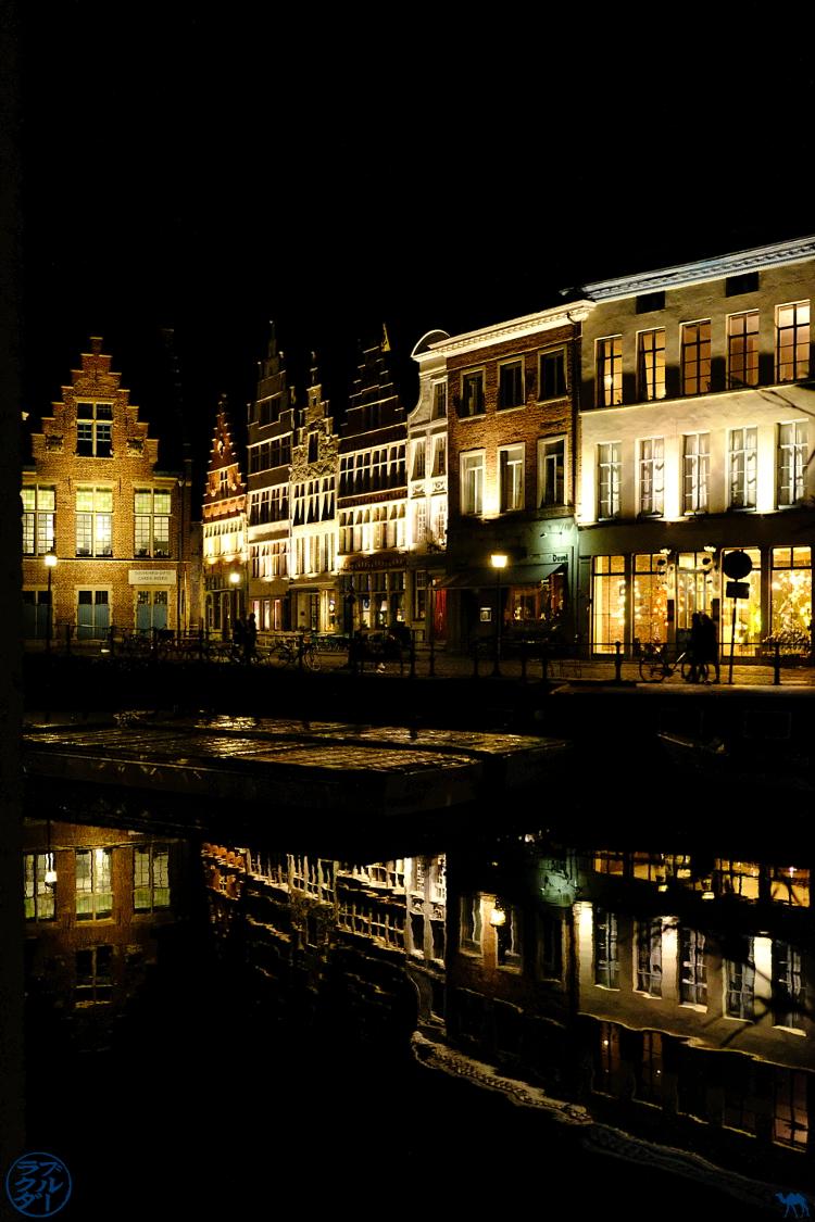 Le Chameau Bleu - Blog Escapade Gand Belgique - Les rues de Gand la nuit