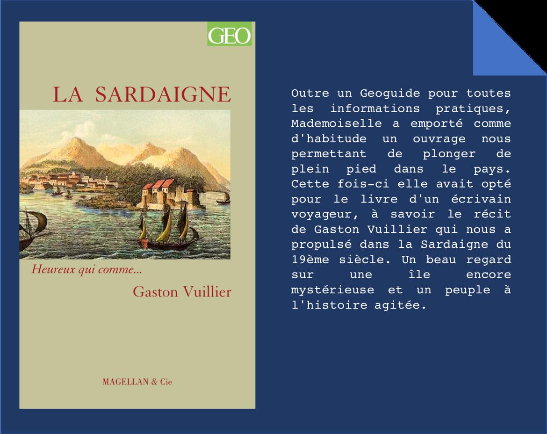 Coin bouquin -Gaston Vuillier La Sardaigne - Le Chameau Bleu Blog Voyage