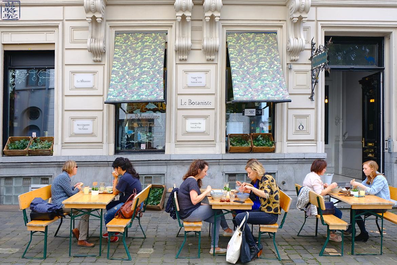 Le Chameau Bleu -Blog Voyage Restaurant Gand Belgique - Terrasse du restaurant Le botaniste Flandre