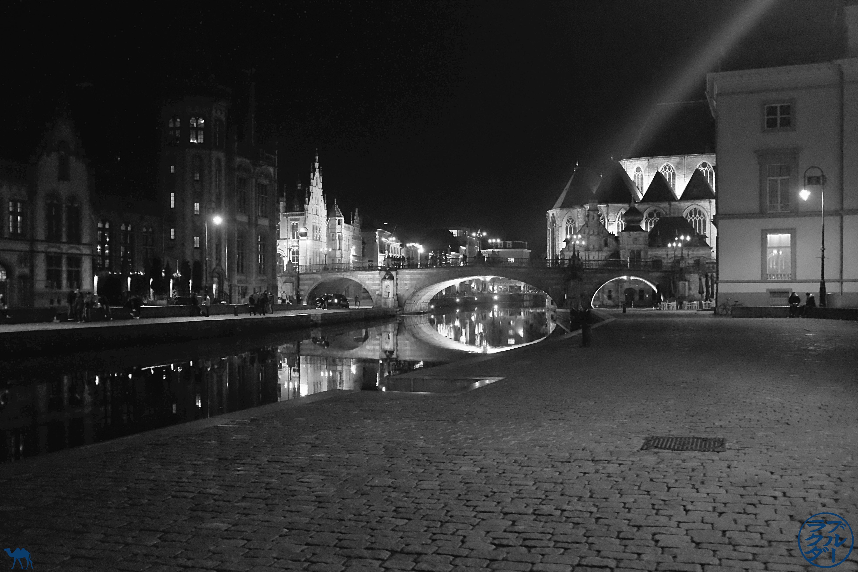 Le Chameau Bleu - Blog Escapade Gand Belgique - Centre ville de Gand la nuit