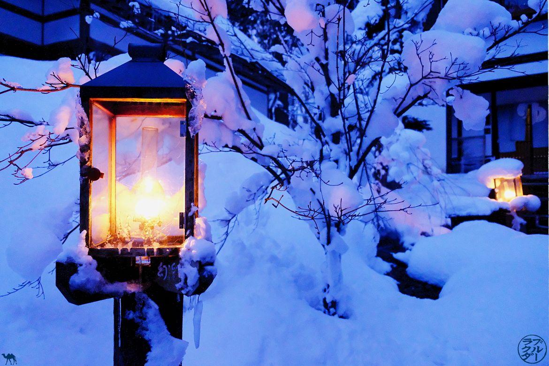 Le Chameau Bleu - Blog Voyage Onsen Tohoku - Décor magique de Aoni Onsen Nord du Japon