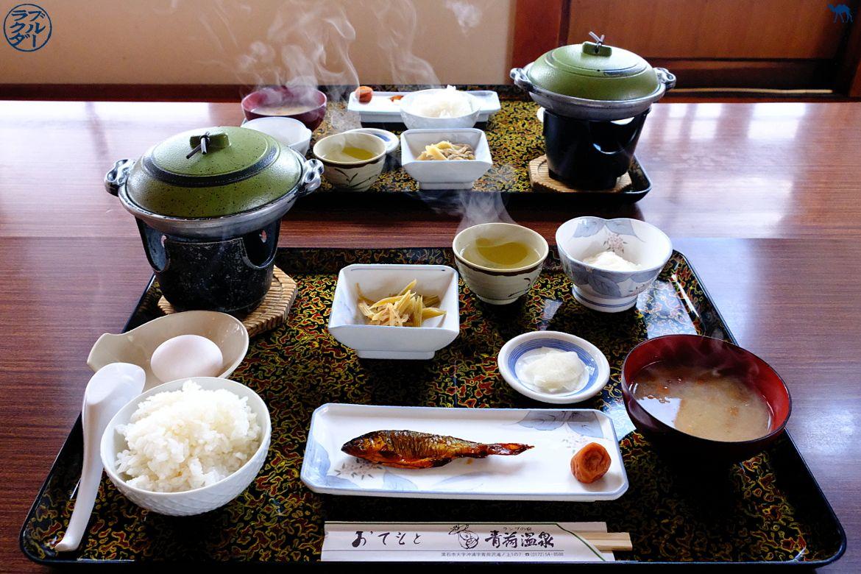 Le Chameau Bleu - Blog Voyage Tohoku - Voyage dans le Tohoku au Nord du Japon- Aoni Onsen - Repas