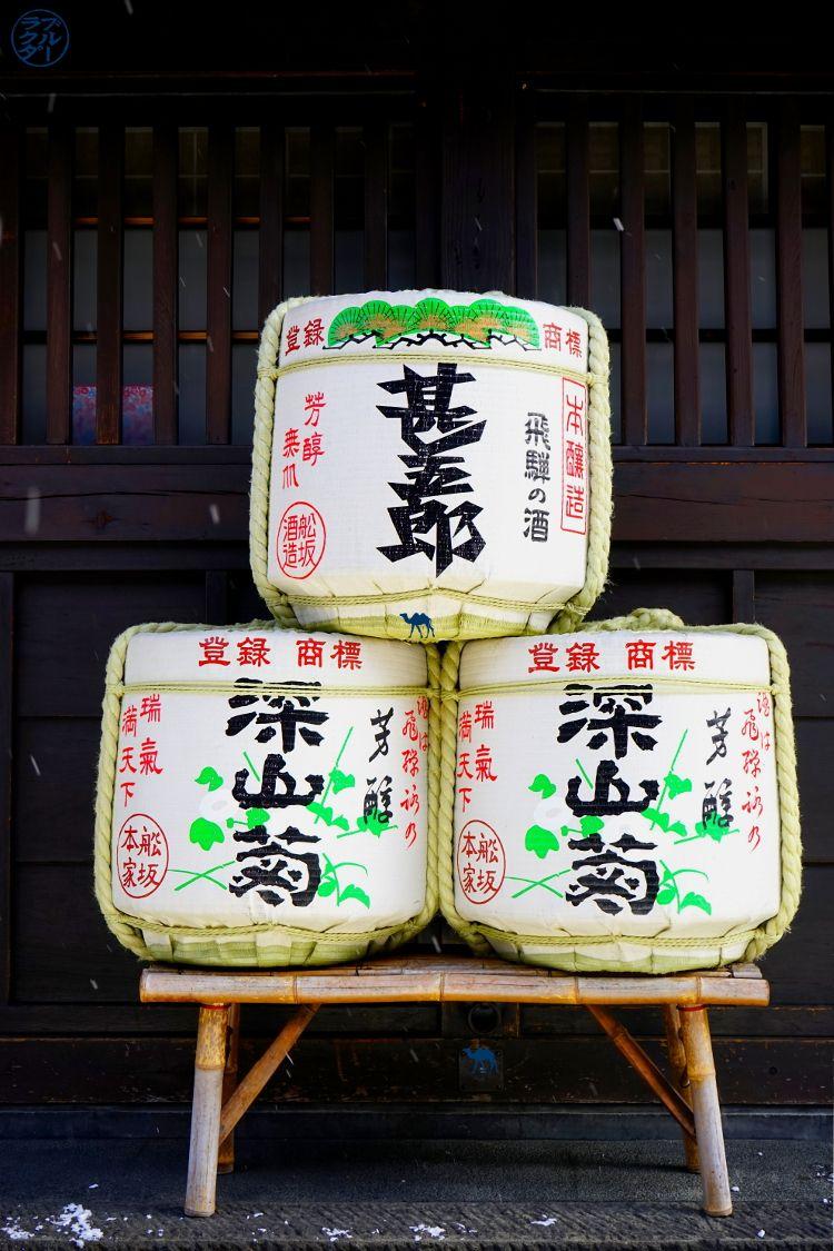Jarre à Saké à Takayama Japon - Le Chameau Bleu Blog Voyage Takayama