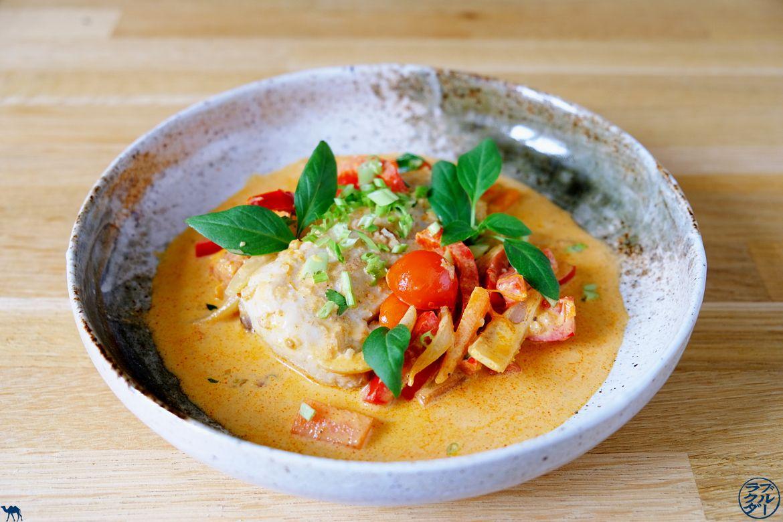 Le Chameau Bleu - Blog Cuisine et Voyage - Recette d'un cabillaud à la pâte de curry - lait de coco et citron