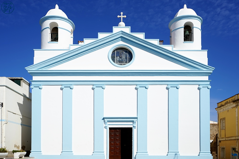 Le Chameau Bleu - Blog Voyage Calasetta Sardaigne - Eglise de Calasetta - Italie
