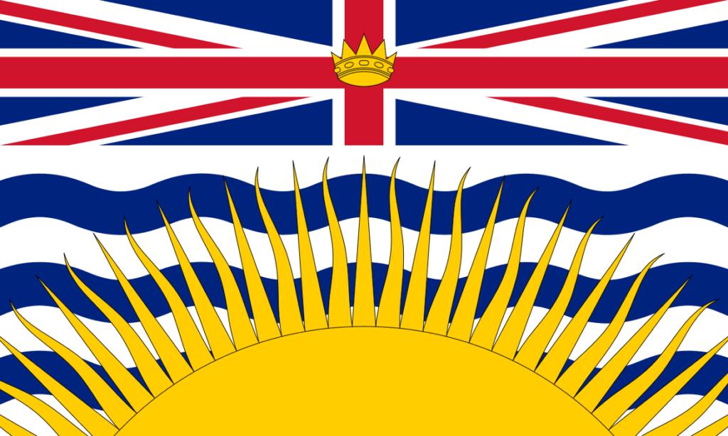 Le Chameau Bleu - Blog Voyage Canada Colombie Britannique - Drapeau de la Colombie Britannique