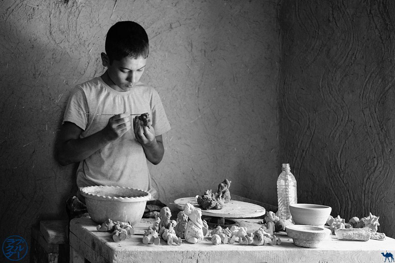 Le Chameau Bleu - Blog Voyage Boukhara Ouzbékistan - Céramiste de Gijduvan