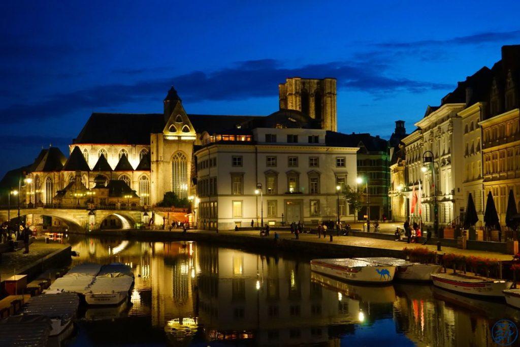 Blog Voyage Gand Belgique - Graslei By Night Week end en amoureux à Gand Belgique