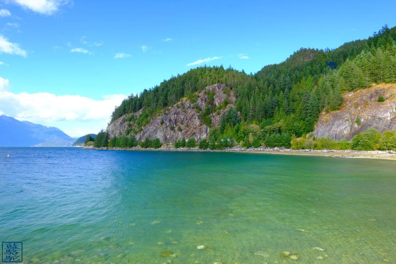 Le Chameau Bleu - Blog Voyage Canada Colombie Britannique - Les eaux de Porteau Cove