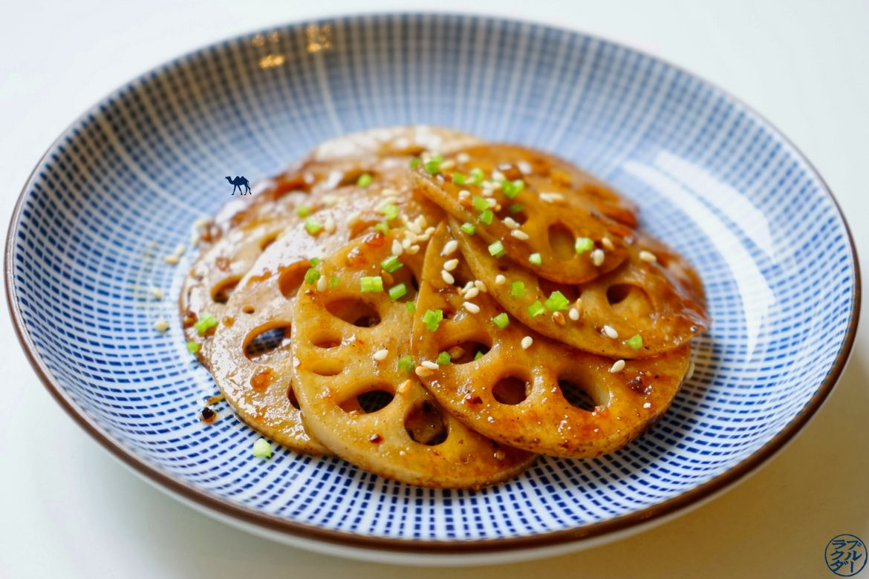 Le Chameau Bleu - Blog Cuisine et Voyage - Recette japonaise de Renkon caramélisé