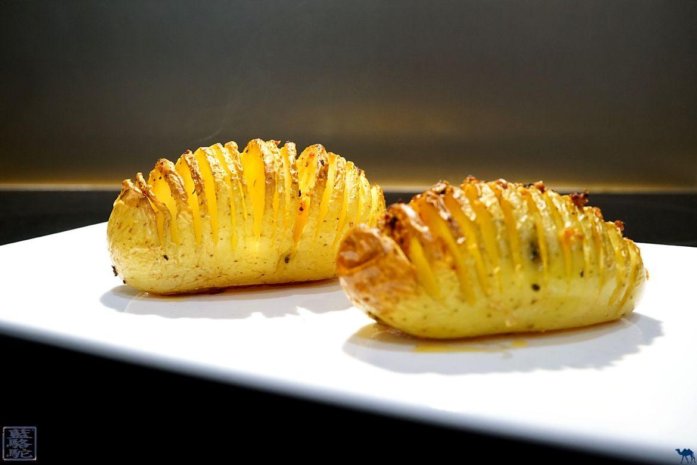 Le Chameau Bleu - Blog Cuisine et Voyage - Recette Des pommes de terre Hasselback