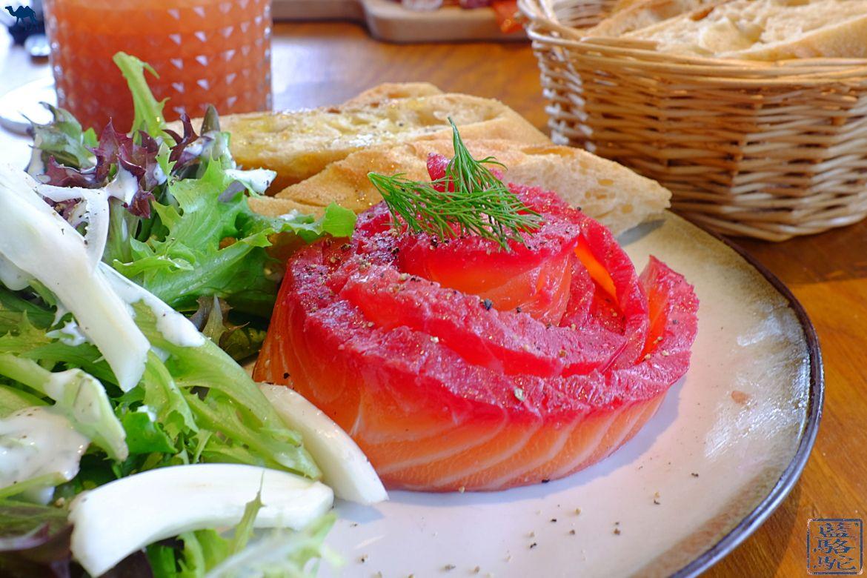 Le Chameau Bleu - Blog Voyage Gand Belgique - Gravlax de Saumon du STAM Café - Gand - Belgique