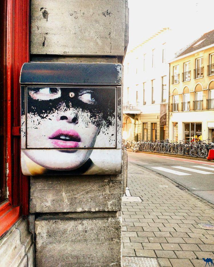 Le Chameau Bleu - Blog Voyage Gand Belgique - street art postal - Week end à Gand en Belgique