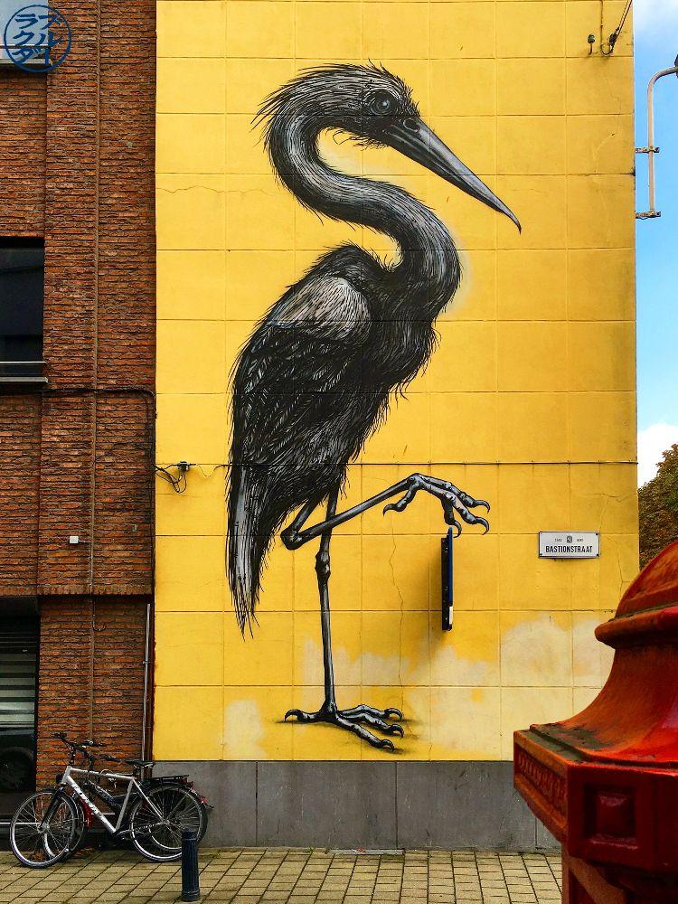 Le Chameau Bleu - Blog Voyage Gand Belgique -Oeuvre de Roa à Gand Belgique - Artiste de Street Art