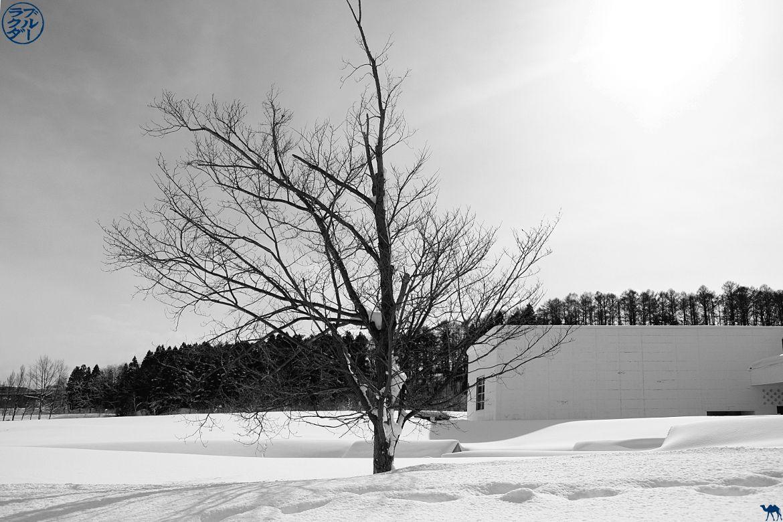 Le Chameau Bleu - Blog Japon Aomori Tohoku -Décor tout blanc du Aomori Museum of Art Tohoku Japon