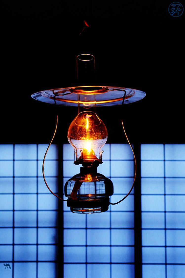 Le Chameau Bleu - Blog Voyage Japon - Voyage au Japon dans le Tohoku - Lampe a pétrole de Aoni Onsen