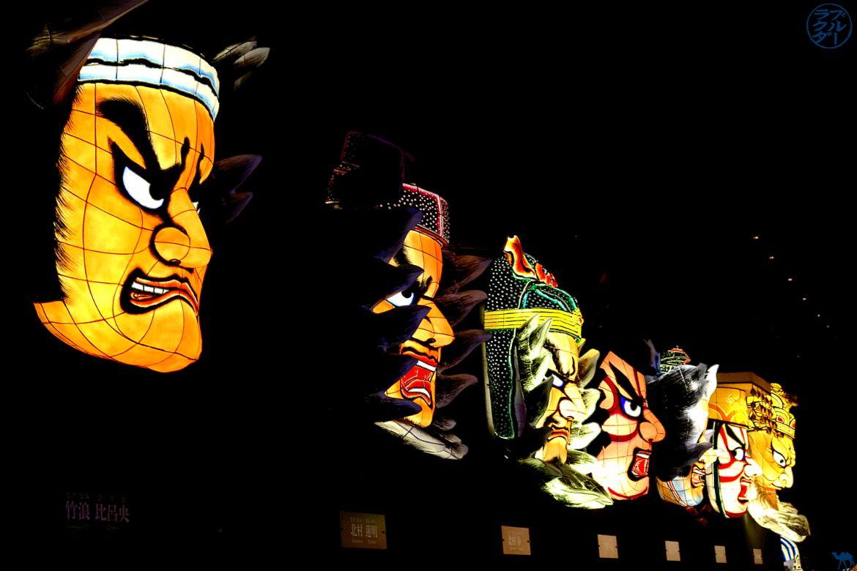 Le Chameau Bleu - Blog Voyage Japon - Tete de Nebuta au Musee Warasse à Aomori - Tohoku - Tourisme Japon