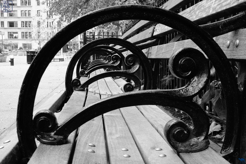 Blog Voyage New York City- Banc de Madisson Square Park New York Manhattan