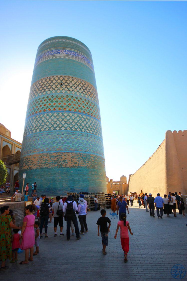 Le Chameau Bleu - Blog Voyage Ouzbékistan - Minaret Kalta Minor Khiva Asie Centrale
