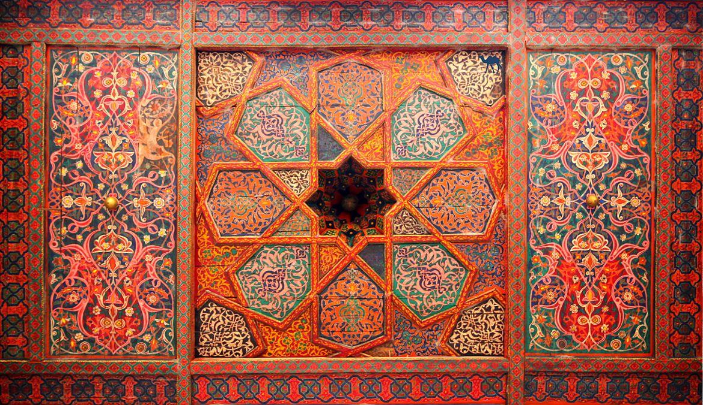 Le Chameau Bleu- Blog Voyage Ouzbékistan - Plafond du Harem - Khiva - Roadtrip en Ouzbékistan