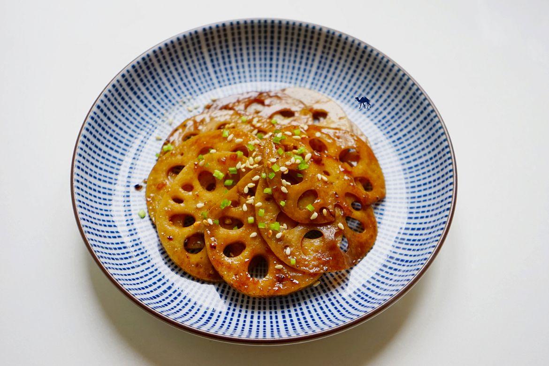 Le Chameau Bleu - Blog Cuisine et Voyage - Recette japonaise de Renkon caramélisé- Racine de Lotus