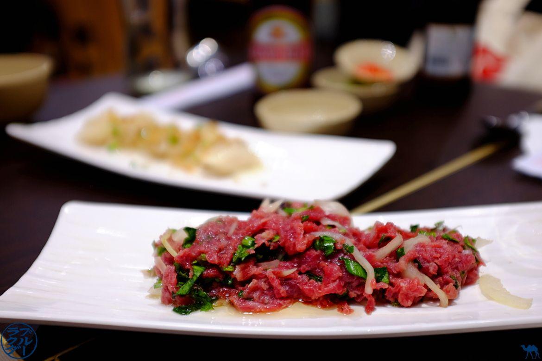 Le Chameau Bleu - Blog Gastronomie Restaurant Song Huong Paris - tartare de boeuf vietnamien
