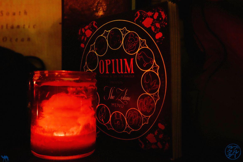 Blog Voyage Londres - The Zodiac Menu pour les cocktails à l'opium bar Londres- Bar Cocktail Londres