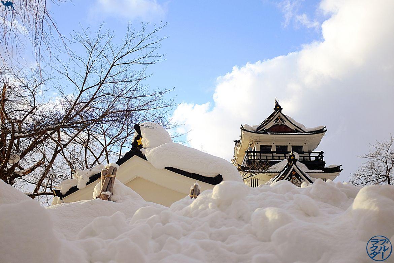 Le Chameau Bleu - Voyage au Japon dans le Tohoku - Visite du chateau de Yokote