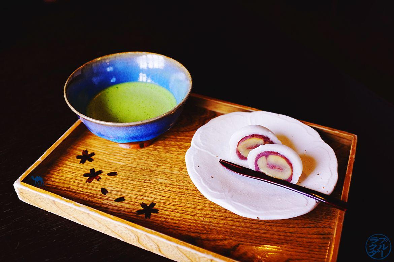 Le Chameau Bleu - Blog Tohoku Japon - Voyage au Japon dans le Tohoku - Kakunodate - Matcha et Mochi a la châtaigne