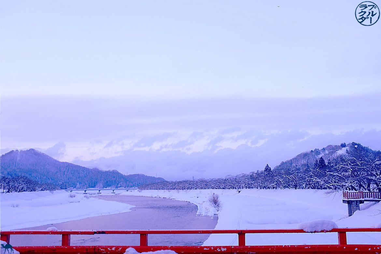 Le Chameau Bleu - Blog Tohoku Japon - Voyage a kakunodate dans le Tohoku - Japon - Pont Rouge
