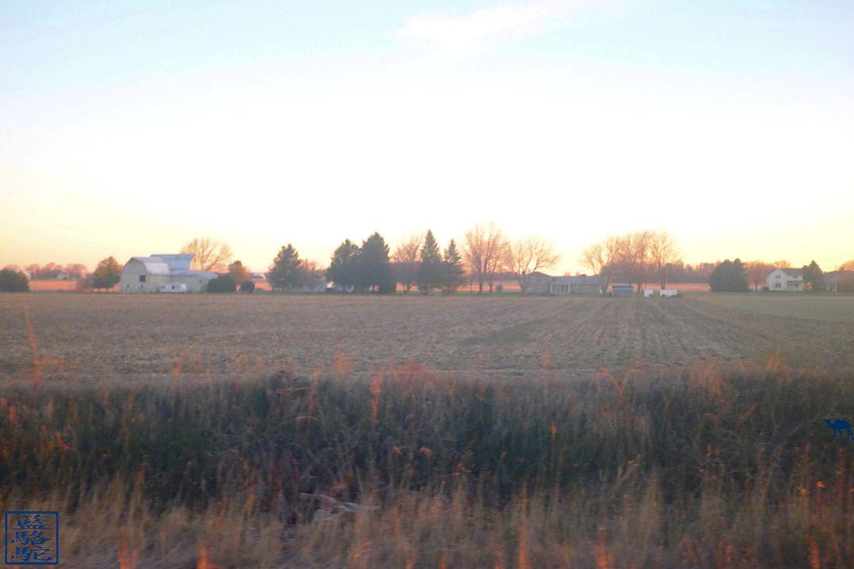 Le Chameau Bleu - Paysage sur la route de Chicago en train depuis New York