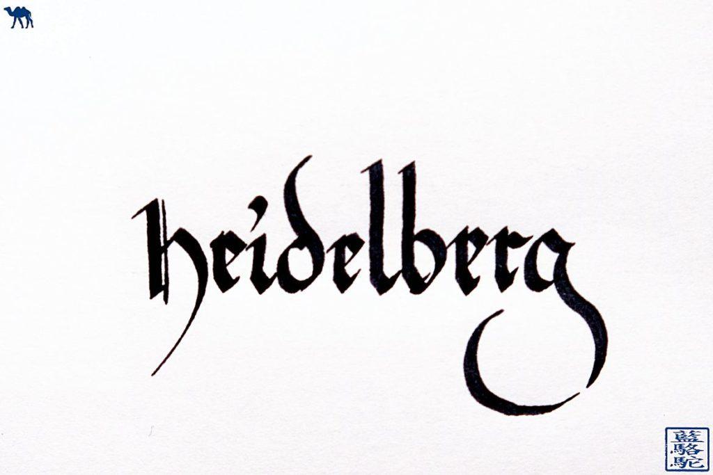 Le Chameau BLeu - Blog Voyage Heidelberg Allemagne - Calligraphie Heidelberg