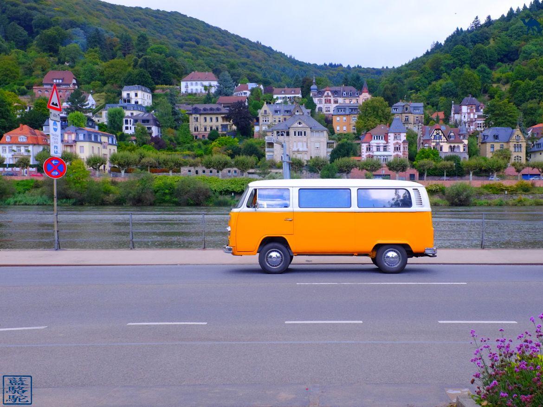 Le Chameau Bleu - Blog Voyage Heidelberg Allemagne - Bord du Neckar