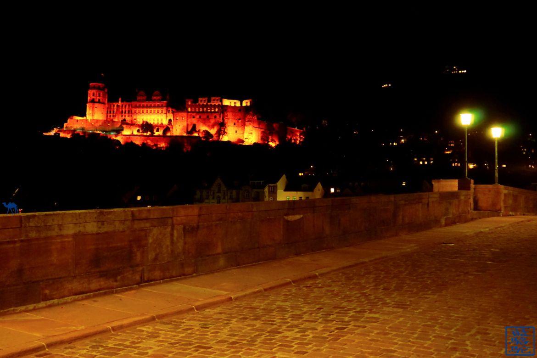 Le Chameau Bleu - Blog Voyage Heidelberg Allemagne - Chateau d'Heidelberg by night - Allemagne