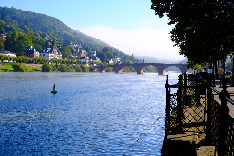 Le Chameau Bleu - Blog Voyage Heidelberg Allemagne - Le Neckar à Heidelberg - Escapade en Allemagne
