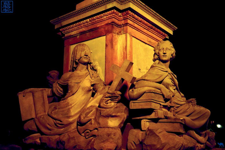 Le Chameau Bleu - Blog Voyage Heidelberg Allemagne - Pont Alte Brücke - Heidelberg- Statue - Voyage en Allemagne