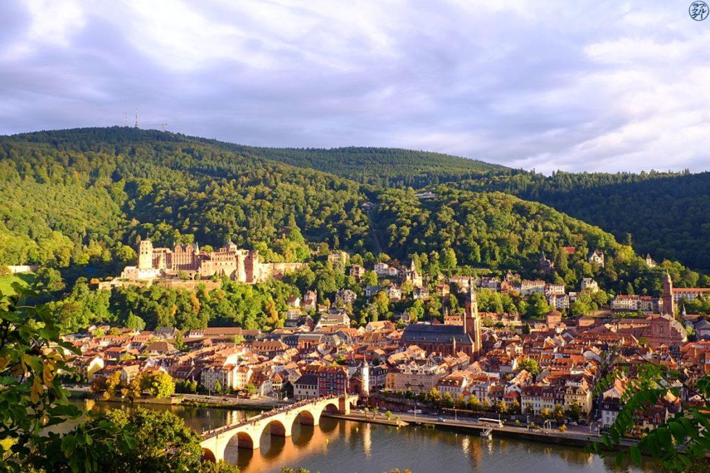 Le Chameau Bleu - Blog Voyage Heidelberg Allemagne - Vue d'ensemble sur Heidelberg - Allemagne - Chateau d'Heidelberg