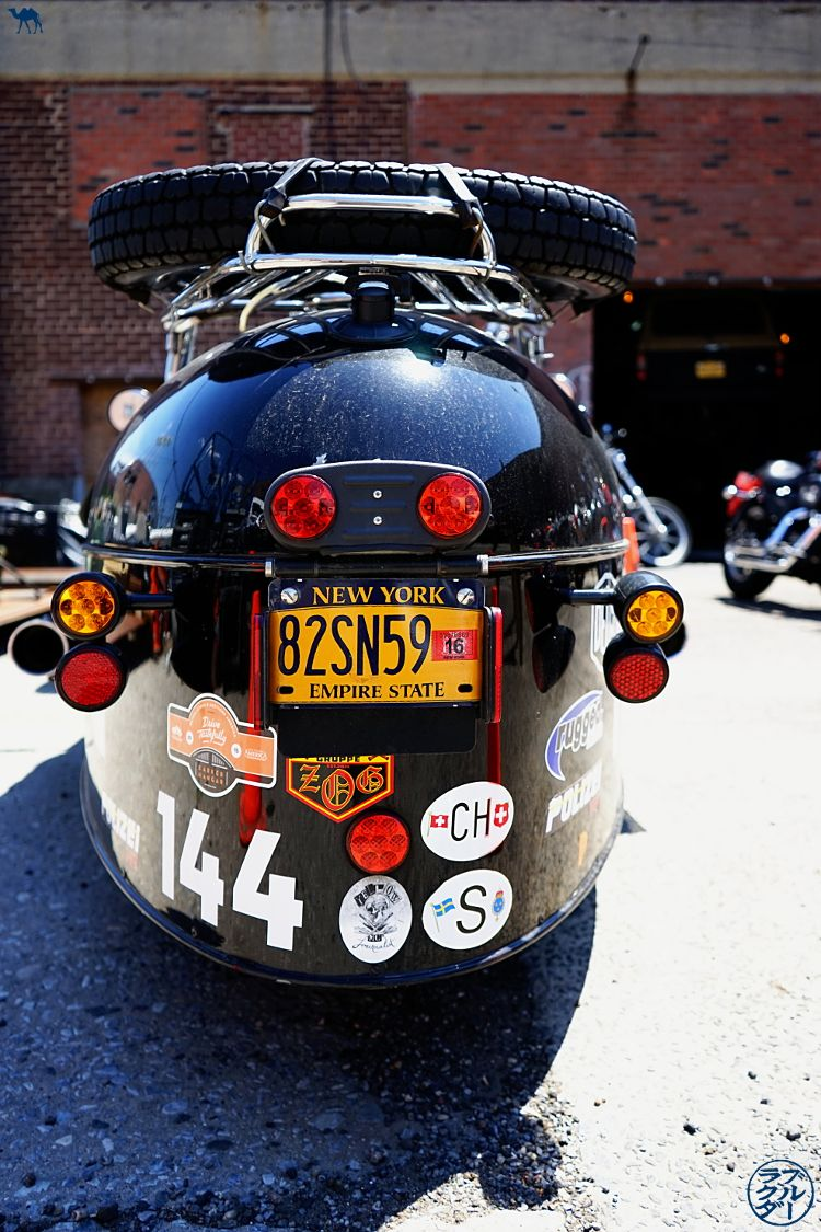 Le Chameau Bleu Blog Voyage USA - Side Car Harley Davidson de Red Hook - Balade dans Brooklyn New York