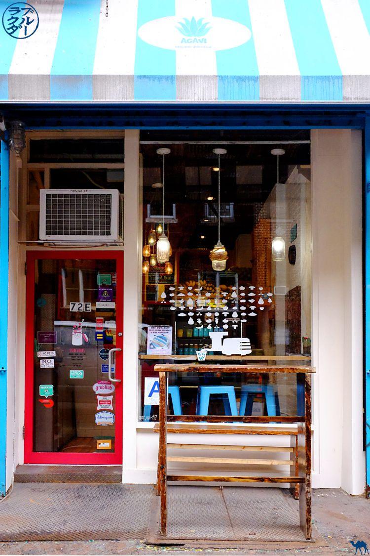 Le Chameau Bleu - Blog Voyage New York City - Bar à Jus Aqua Vita dans New York