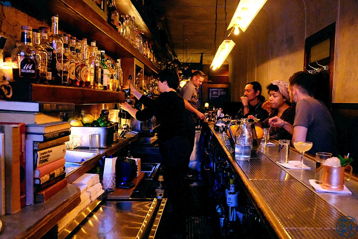 Le Chameau Bleu - Intérieur de l'Attaboy - Speakeasy - bar à cocktail de New York