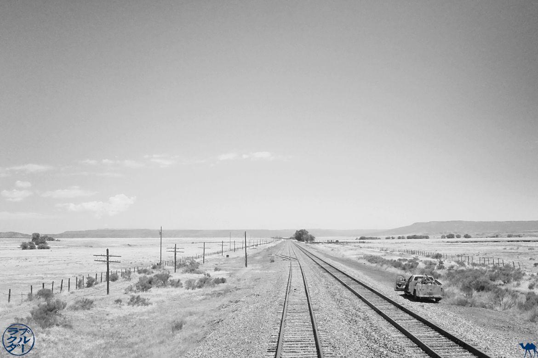 Le Chameau Bleu - Blog Voyage Southwest Chief train - Vue depuis l'arrière du train entre Chicago et Los Angeles