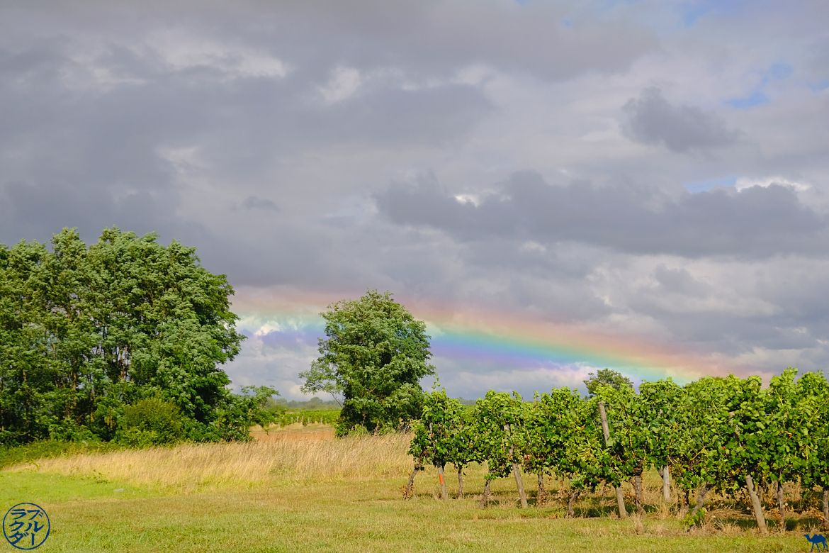The Blue Camel - Blog Travel Bike en los dos mares Canal - Rainbow in Frontenac en Gironde
