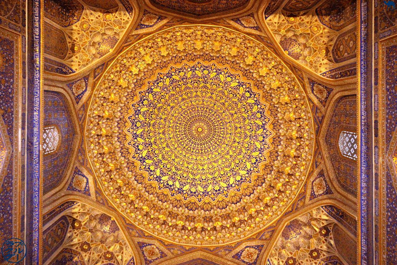 Le Chameau Bleu - Blog de Voyage Samarcande Ouzbékistan - Plafond Doré de Samarcande - Asie Centrale