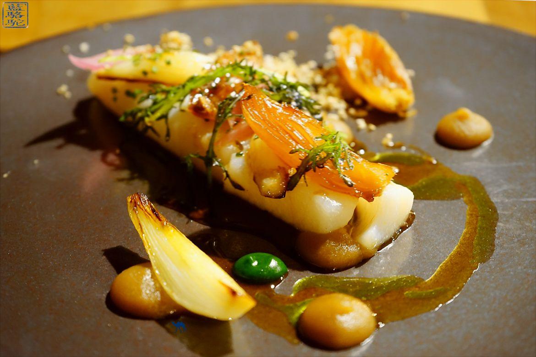 Le Chameau Bleu - Restaurant Gastronomique 2 Etoile Michelin au Fornet - Longe Cabillaud