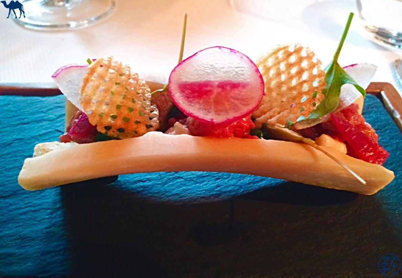 Le Chameau Bleu - Blog Gastronomie - Tartare de boeuf de l'Atelier d'Edmond - Val d'Isère