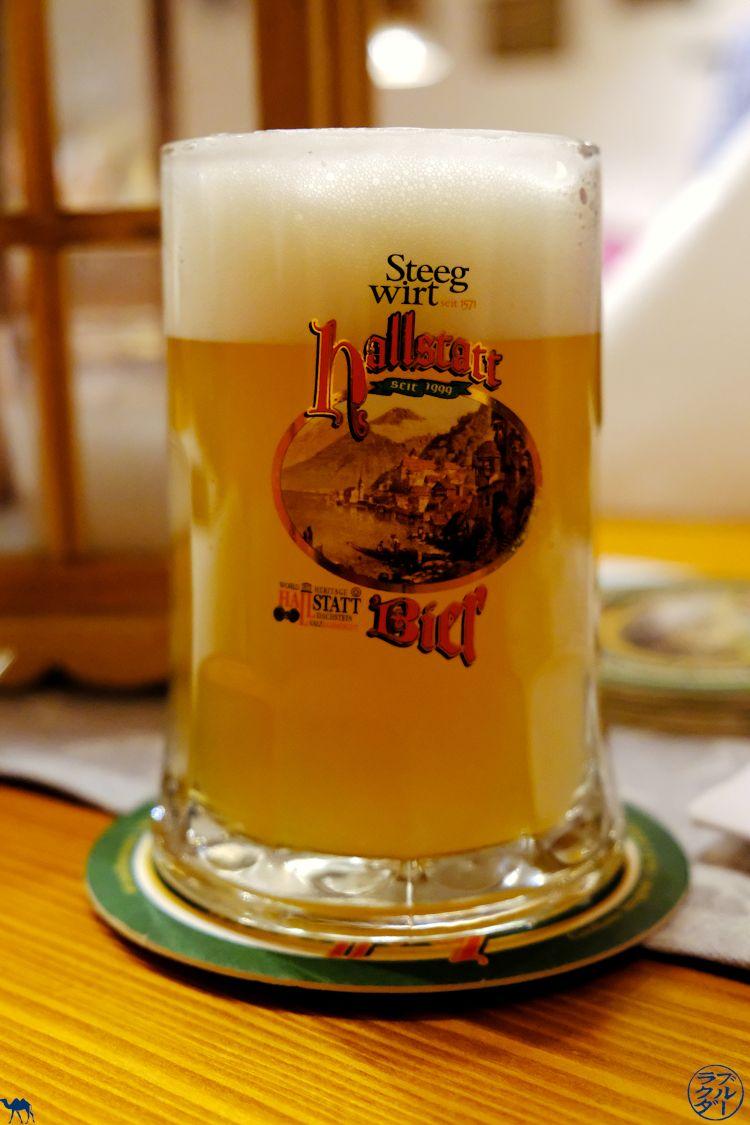 Le Chameau Bleu - Blog Voyage et Gastronomie - Adresse food au Dachstein Salzkammergut - Biere du restaurant SteegWirt