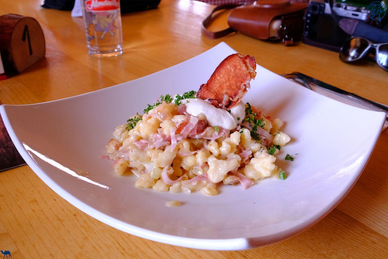 Le Chameau Bleu - Blog Voyage Autriche - Déjeuner en Montagne - Spatzle