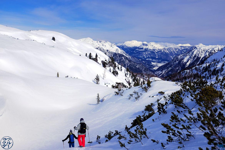 Le Chameau Bleu - Blog Voyage En Autriche - randonnée en raquette dans le Salzkammergut