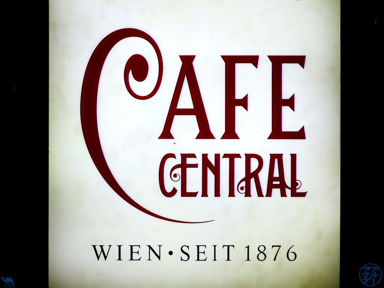 Le Chameau Bleu - Blog Voyage Vienne - Enseigne du Café Central
