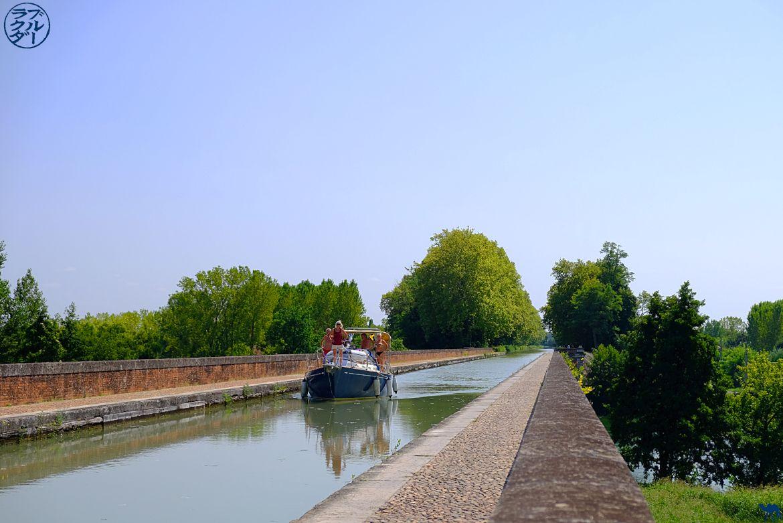 Camelo azul - bicicleta blog o 2 mares canal - Moissac Canal Pont Tarn e Garonne
